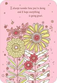 thinking of you cards pink flowers thinking of you card greeting cards hallmark