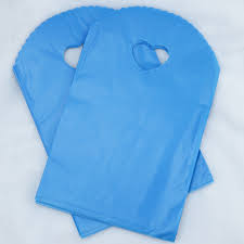 blue gift bags 50pcs blue plastic bag 13x21cm small jewelry bag shopping boutique