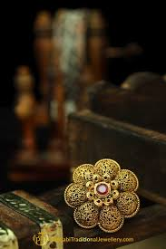 antique gold rings images Red antique gold ring by punjabi traditional jewellery punjabi jpg