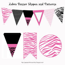 Welcome Home Banners Printable by Paper Perfection Zebra Print Party Printables