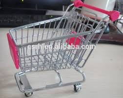 Mini Shopping Cart Desk Organizer Stationery Holders Type And Metal Material Mini Shopping Trolley