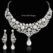 bridal necklace set pearl images Best bridal sets necklace and earrings photos 2017 blue maize jpg
