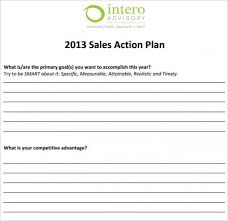 sales action plan template 21 free word excel pdf