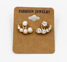 fashion earrings wholesale trendy fashion pearl rhinestone ear jacket yiwuproducts