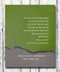 wedding keepsake quotes these are the days by morrison lyrics wedding keepsake