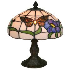 Lamp Harp Home Depot by Amora Lighting 20 In Tiffany Style Butterfly Finish Table Lamp