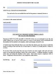 notice form in word printable sample 30 day notice to vacate