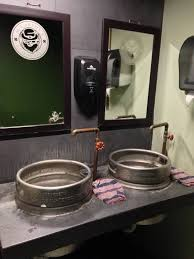 this irish pub s bathroom sinks are made from beer kegs beer this irish pub s bathroom sinks are made from beer kegs