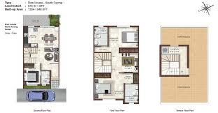 South Facing House Floor Plans Casa Grande Elan Villas Row House South Facing Pre Launch Real