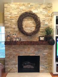 fireplace stone facing ideas veneer kits family wrapped dry