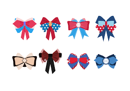 vector hair bows flat icons download free vector art stock