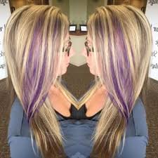 pink highlighted hair over 50 blonde with purple highlights google search hair pinterest