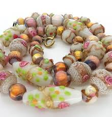bead necklace ebay images 50 best venetian glass beads images venetian glass jpg
