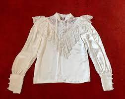 ruffled blouse etsy