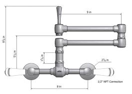 articulated kitchen faucet steam valve original wall mount bridge faucets