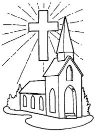 church coloring page vitlt com