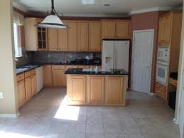 kitchen trendy kitchen paint colors with oak cabinets and white