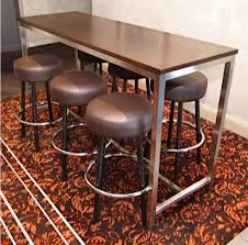 restaurant high top tables stainless high bar timber top base023 creative furniture design