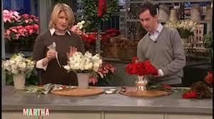 video rose christmas centerpieces martha stewart