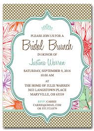 Bridal Shower Greeting Wording Brunch Bridal Shower Invitations Kawaiitheo Com