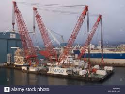 Multipurpose Sea Going Heavy Lift Vessel Rambiz Stock Photo