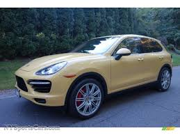 Porsche Macan Yellow - 2012 porsche cayenne turbo in sand yellow a80908 nysportscars