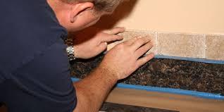 How To Put Up Backsplash Tile by How To Install Kitchen Backsplash Tiles