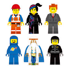 the lego movie characters removable wall stickers 6 piece set zoom