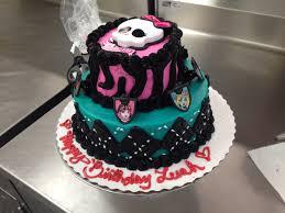 custom order monster high two tier cake all buttercream monster high two tier cake all buttercream walmart cake
