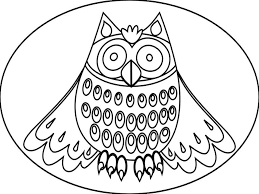 awesome owl coloring pages for kids realistic printable owl