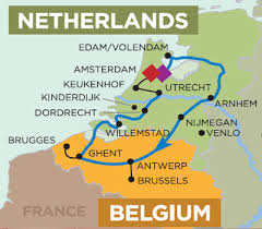 belgium and netherlands map tulip time cruise 7 nights amsterdam to amsterdam