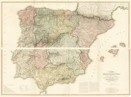 Europe Mountains Map by A New Map Of Spain And Portugal Exhibiting The Chains Of