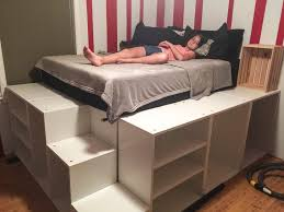 Diy Bed Platform Ikea Platform Bed With Storage Grousedays Org