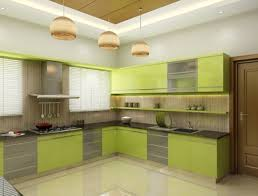 Kitchen Interior Kerala Home Design Indian Home Desgn Modular - Kerala house interior design