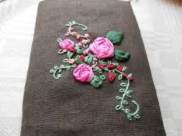 ribbon embroidery flower garden alla dagar som gick bandbroderi ribbon embroidery