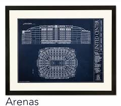 architectural prints of sports stadiums ballpark blueprints