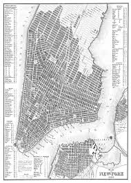 Manhattan New York Map by New York City Map 1844 New York City Manhattan Street Map