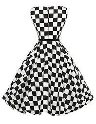 dress image grace karin fashion sleeveless boatneck vintage tea dress back
