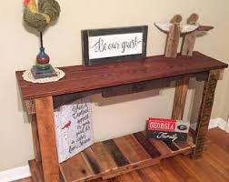 Wood Console Table Wood Console Table Etsy