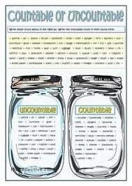 Countable And Uncountable Nouns Explanation Pdf Teaching Worksheets Countable And Uncountable Nouns