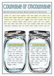 countable and uncountable nouns english pinterest printables