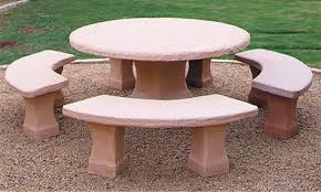 cement table and bench concrete landscape tables outdoor concrete tables phoenix cement