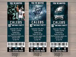 philadelphia eagles home decor philadelphia eagles custom party ticket invitations birthday