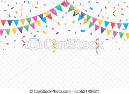 party confetti party flags with confetti vector party flags with confetti