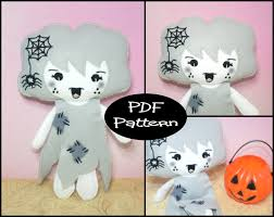 pdf pattern halloween ghost felt doll pattern