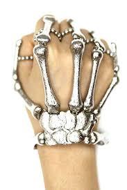 skull hand bracelet images Silver bones hand chain skeleton hand ring bracelet jpg
