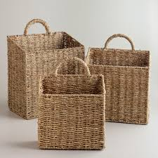 Storage Bags For Garden Cushions by Baskets Decorative Storage U0026 Wicker Weave Baskets World Market