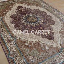 silk handwoven 5x7 area rugs cheap camel carpet