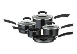 Kitchen Set Aluminium Prestige Aluminium Cookware Set 5 Piece Black Amazon Co Uk