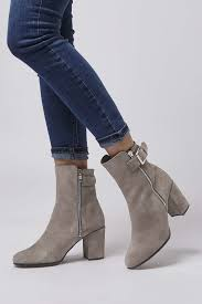 womens boots topshop lyst topshop mega buckle boots in gray